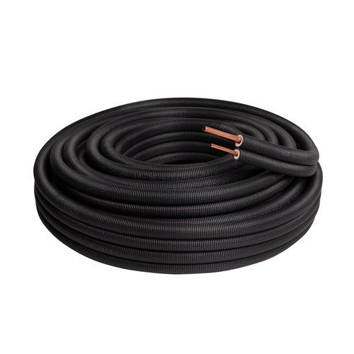 Airco koelleiding zwart per meter